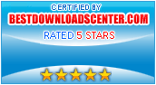 Certified by BestDownloadsCenter.com Rated 5 Stars