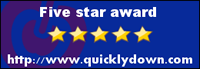 Five star award http://www.quicklydown.com