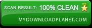 Scan Result 100% Clean myDownloadPlanet.com