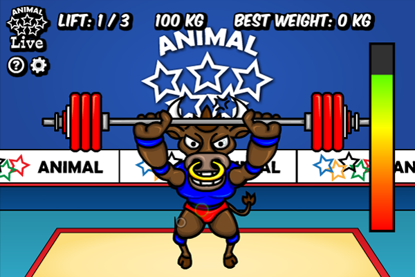 Click to view Animal Olympics - Weight Lifting screenshots