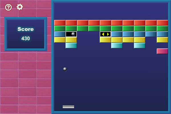 Screenshot of Basic Arkanoid