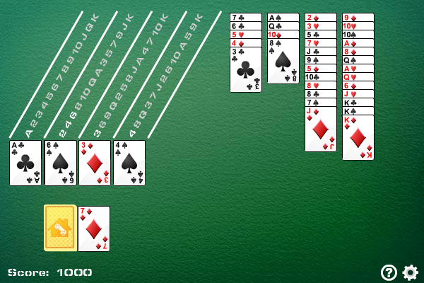 Calculation Solitaire full screenshot