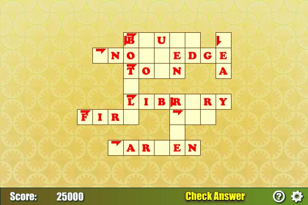Crossword Puzzle screenshot