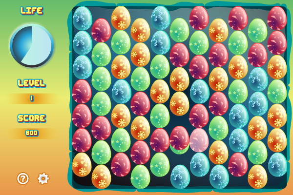 Line up the eggs four by four to destroy them all! good Screen Shot