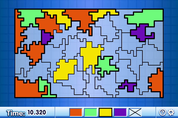 Four Colour Map Screen shot