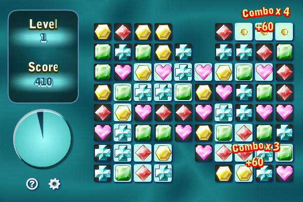 Gems Swap II screenshot: gems swap II, gems swap, bejeweled, diamond mines, action puzzle games, puzzle games, action games, arcade games