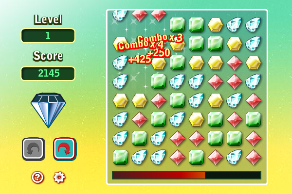 Gems Twist screenshot: gems twist, gems swap, bejeweled twist, match 3 games, match three games, puzzle games, action games, arcade games, action puzzle games