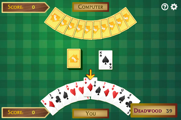 Click to view Gin Rummy 1.0.0 screenshot