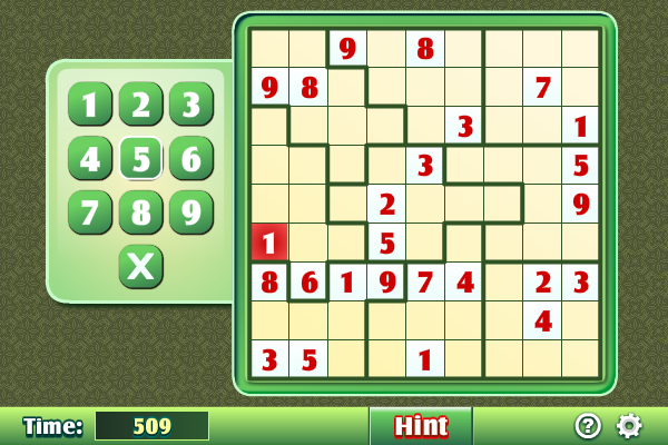 Click to view Jigsaw Sudoku 1.2.1 screenshot