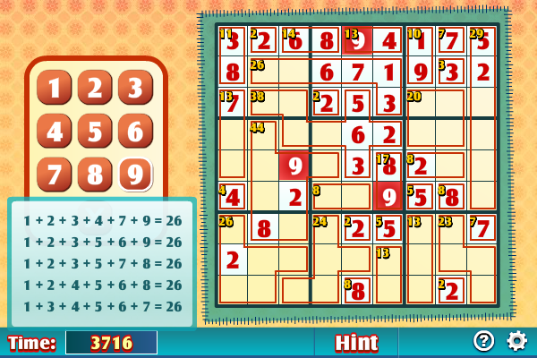 Click to view Killer Sudoku screenshots