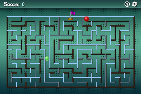 Screenshot of A Maze Race