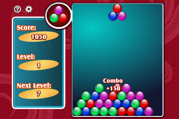 Match and destroy the color balls before they