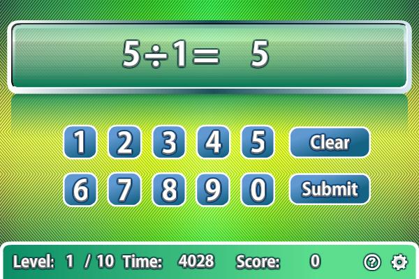 Quick Calculate screenshot: quick calculate, arithmetic, calculate, math, mathematics, educational games, math games, mathematical games