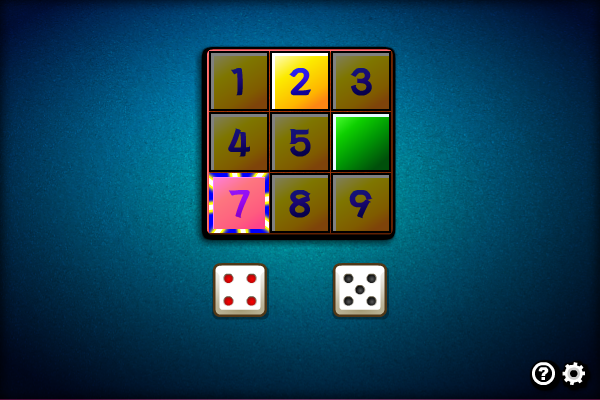 Multiplayer Shut the Box 1.0.0 screenshot