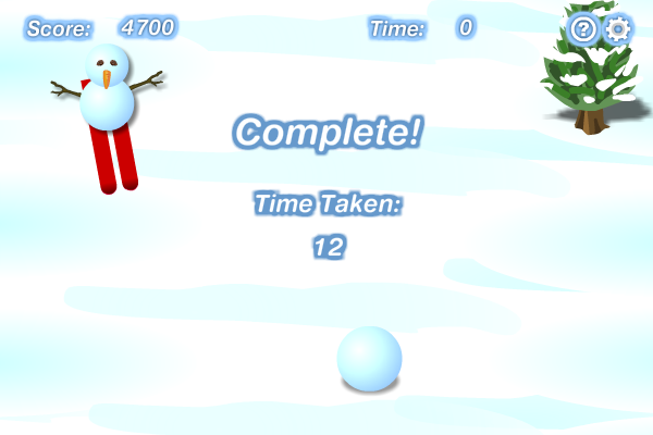 Screenshot of Snowman Skiing