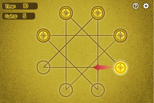 How many coins can you place onto the star?