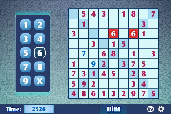 Click to view Sudoku X screenshots