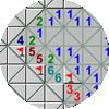 14각형 지뢰찾기