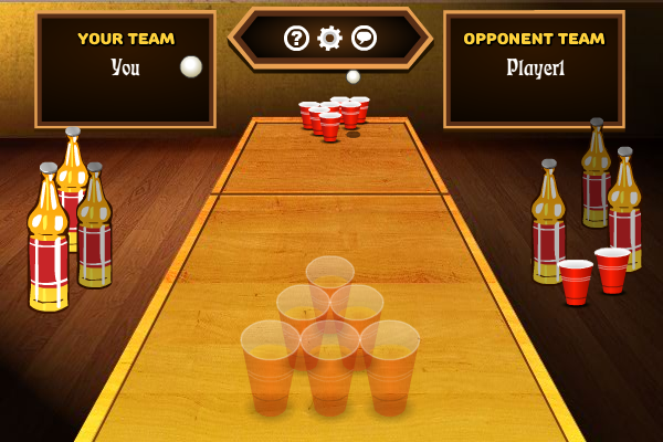 Screenshot of Multiplayer Beer Pong