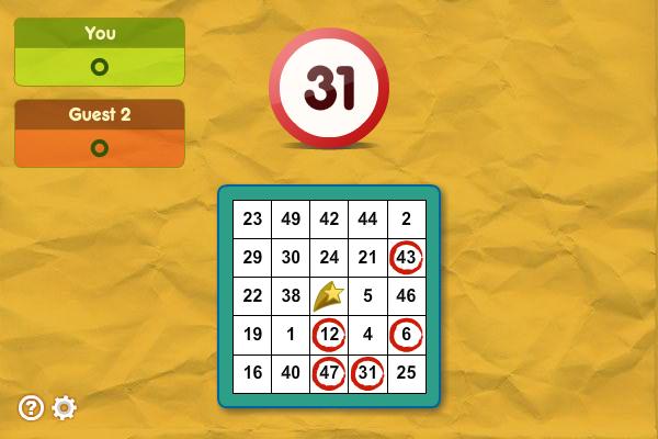 Strategic Bingo full screenshot