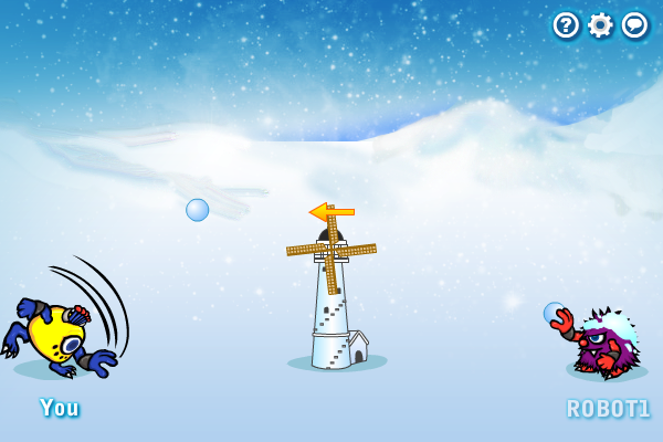 Multiplayer Snowball Duel Screen shot